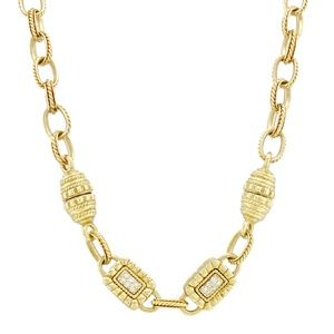 Jewelry - Diamond Vintage Necklace 18k Yellow Gold 0.80 cts